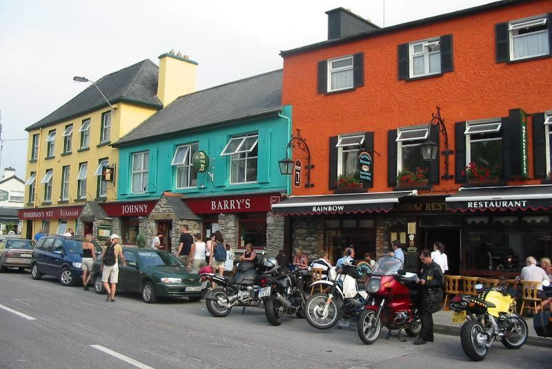 9 day motorcycle tour of Ireland. Johnny Barry's Bar. RoadTrip Motorcycle Tours. Woking, England. +44 (0)1483 662 135