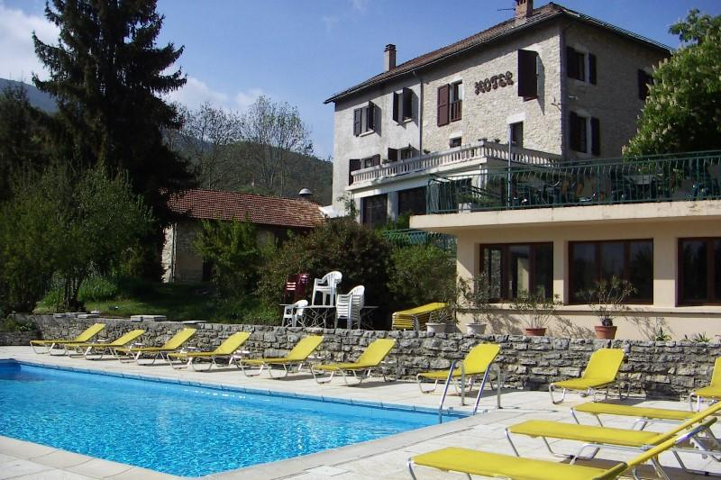 Pool - Alps hotel. 9 day motorcycle tour of the French Alps. Roadtrip motorcycle tours. Woking, UK +44 (0)1483 662 135