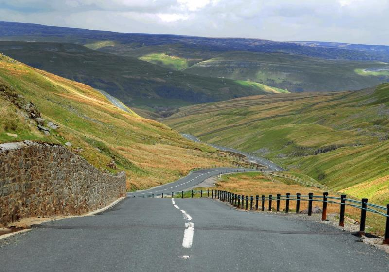Yorkshire pas road on a RoadTrip Motorcycle tour.
