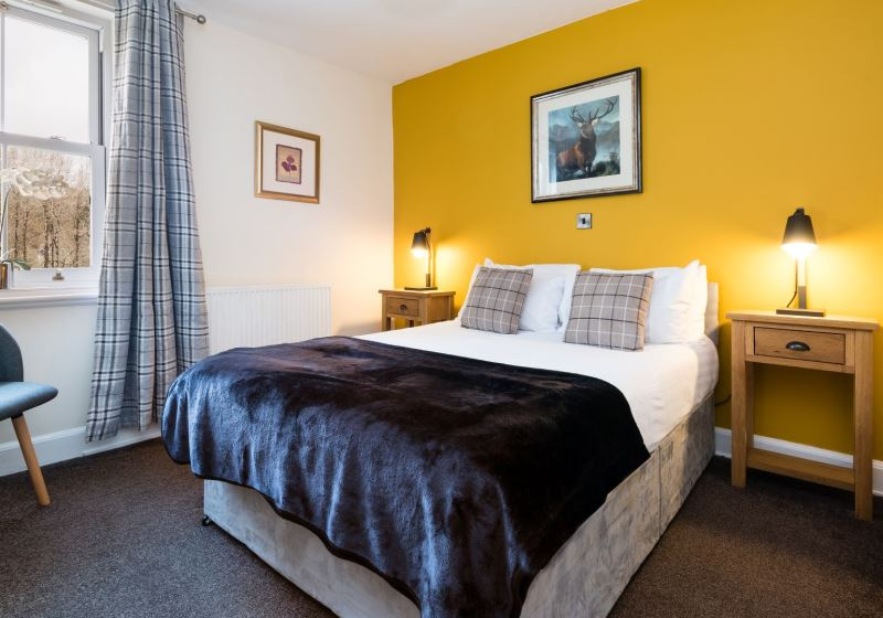 Double room in a Scottish hotel