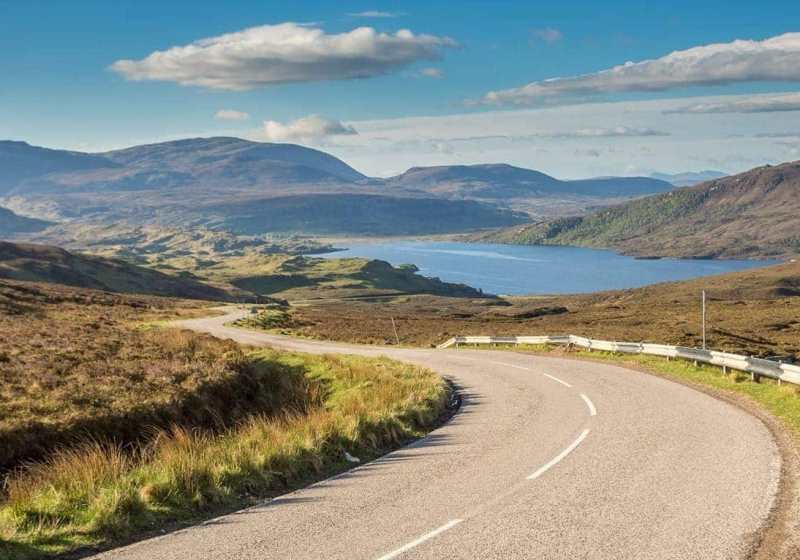 Highland Road on a RoadTrip Scotland Motorcycle Tour