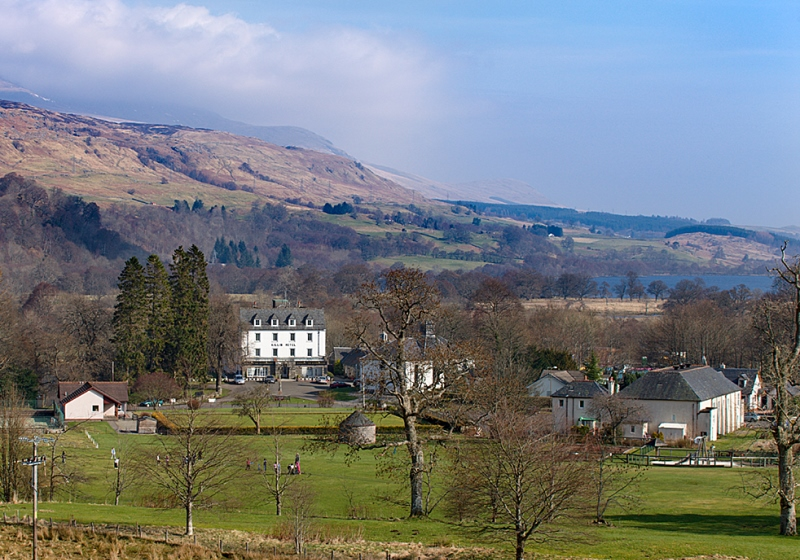 View over Killin at the head of Loch Tay