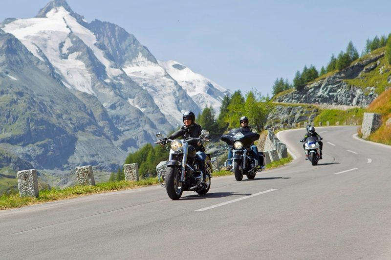 Mountain road. Motorcycle tour of Austria with RoadTrip.