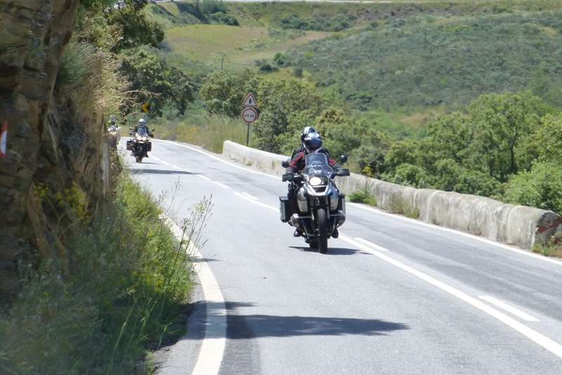 Riders on the road in Spain
