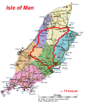 Isle of Man TT Circuit Map